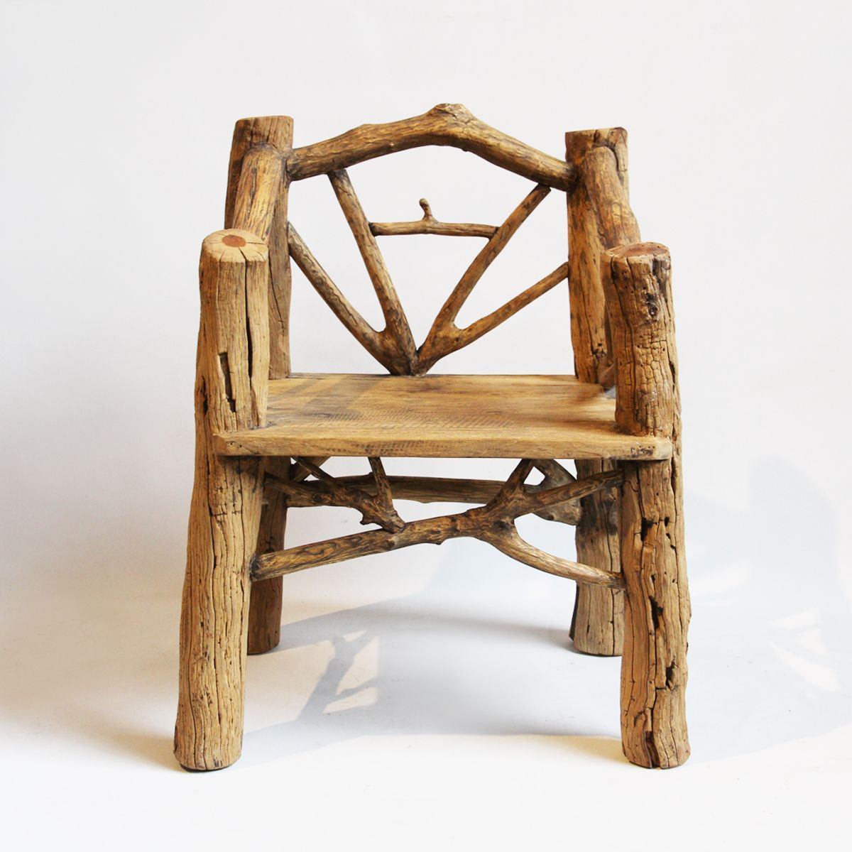 Astonishing Old Log Branch Stump Chair Rustic Farmhouse In 2019 Dailytribune Chair Design For Home Dailytribuneorg