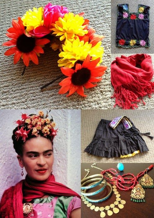 a cup of sparkle frida kahlo halloween costume diy pinata pinterest d guisements. Black Bedroom Furniture Sets. Home Design Ideas