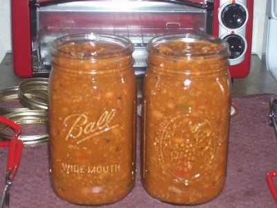 Canning chili with beans - Definitely need to add chili to the list. Use smaller jars for lunches.