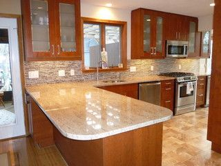 Astoria Granite Countertops Contemporary Kitchen Ikea Kitchen