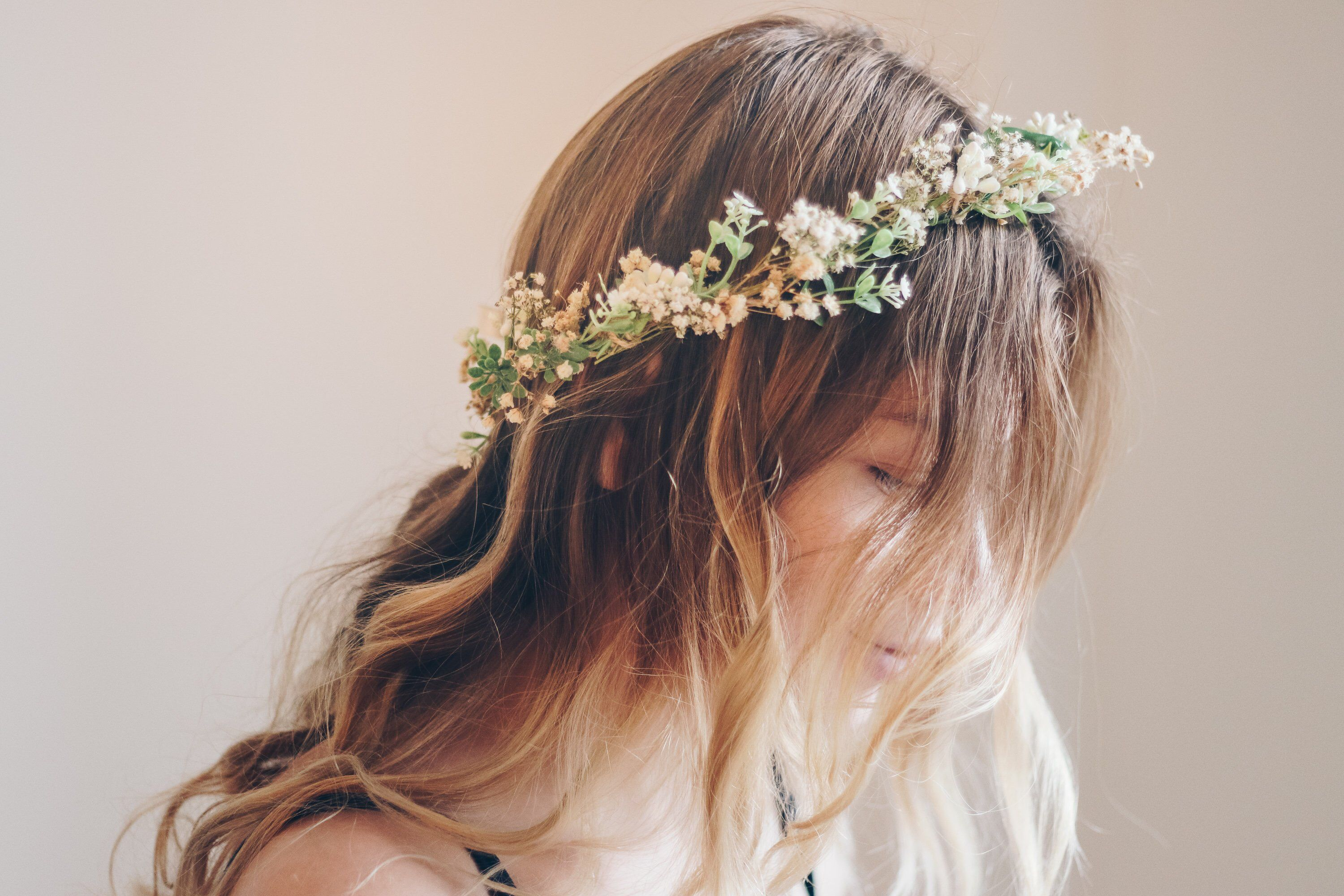 Whimsical Forest Herbs Flower Crown Dried Flowers Etsy Silk Flowers Wedding Flower Crown Flower Crown Bridesmaid