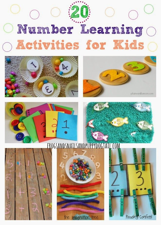 20 Number Learning Activities for Kids Kids learning