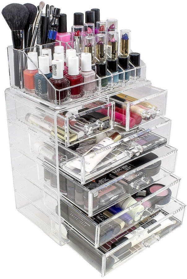 Sorbus sorbus acrylic cosmetics makeup and jewelry storage case sorbus sorbus acrylic cosmetics makeup and jewelry storage case display set solutioingenieria Image collections