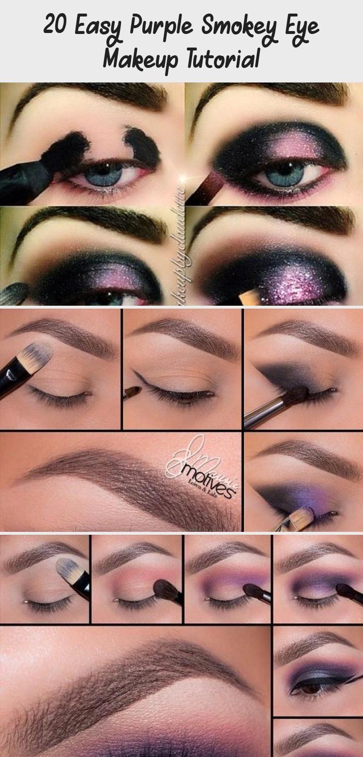 20 Easy Purple Smokey Eye Makeup Tutorial In 2020 Purple Smokey