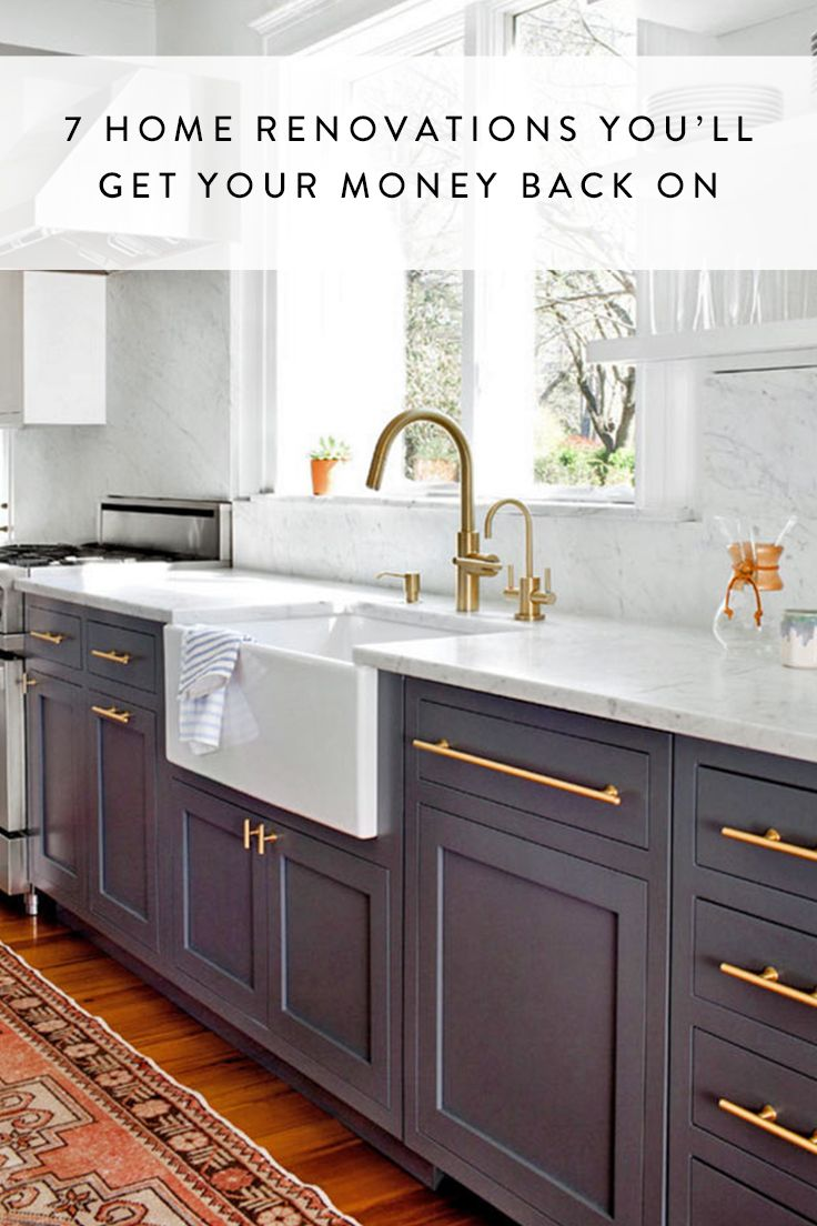 7 Home Renovations Youu2019ll Get Your Money Back On via @PureWow