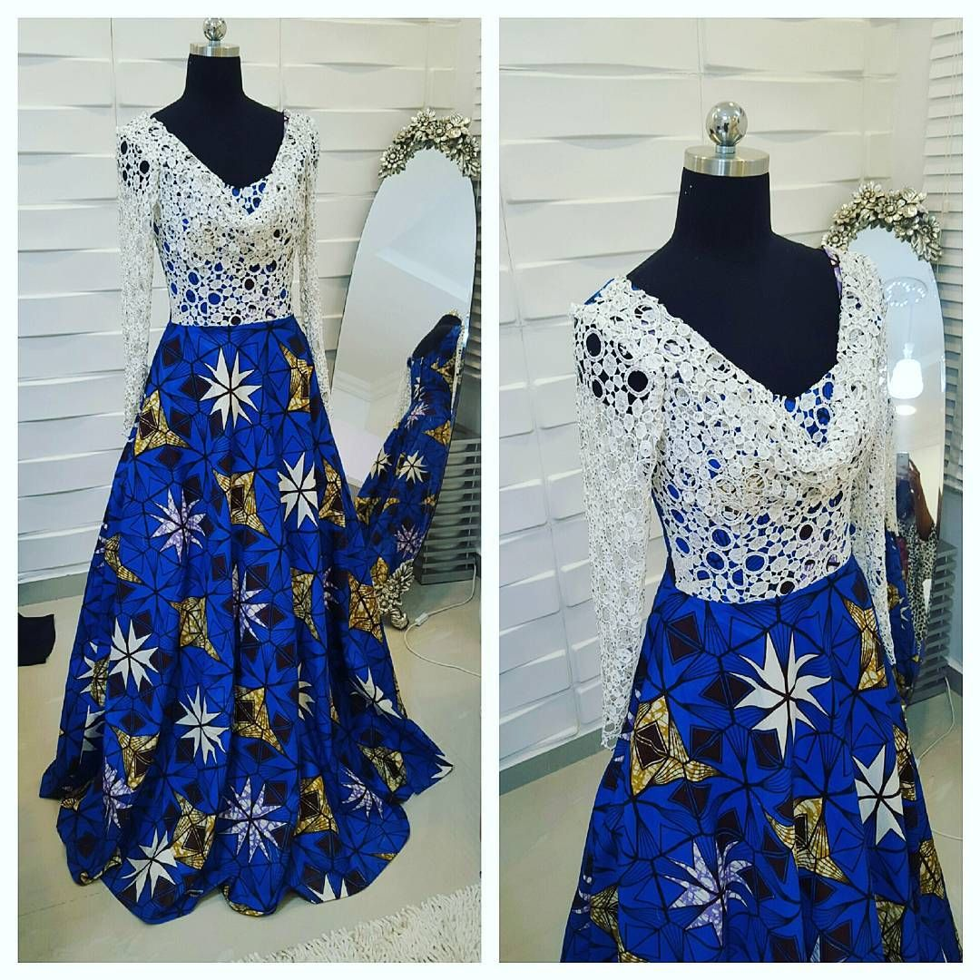 Lovely ankara dress for my lovely client. ....it's got pockets too... #simpledo #kathyanthonydresses #kathyanthonydesigns #ankara #guipurelace #conservative and #chic