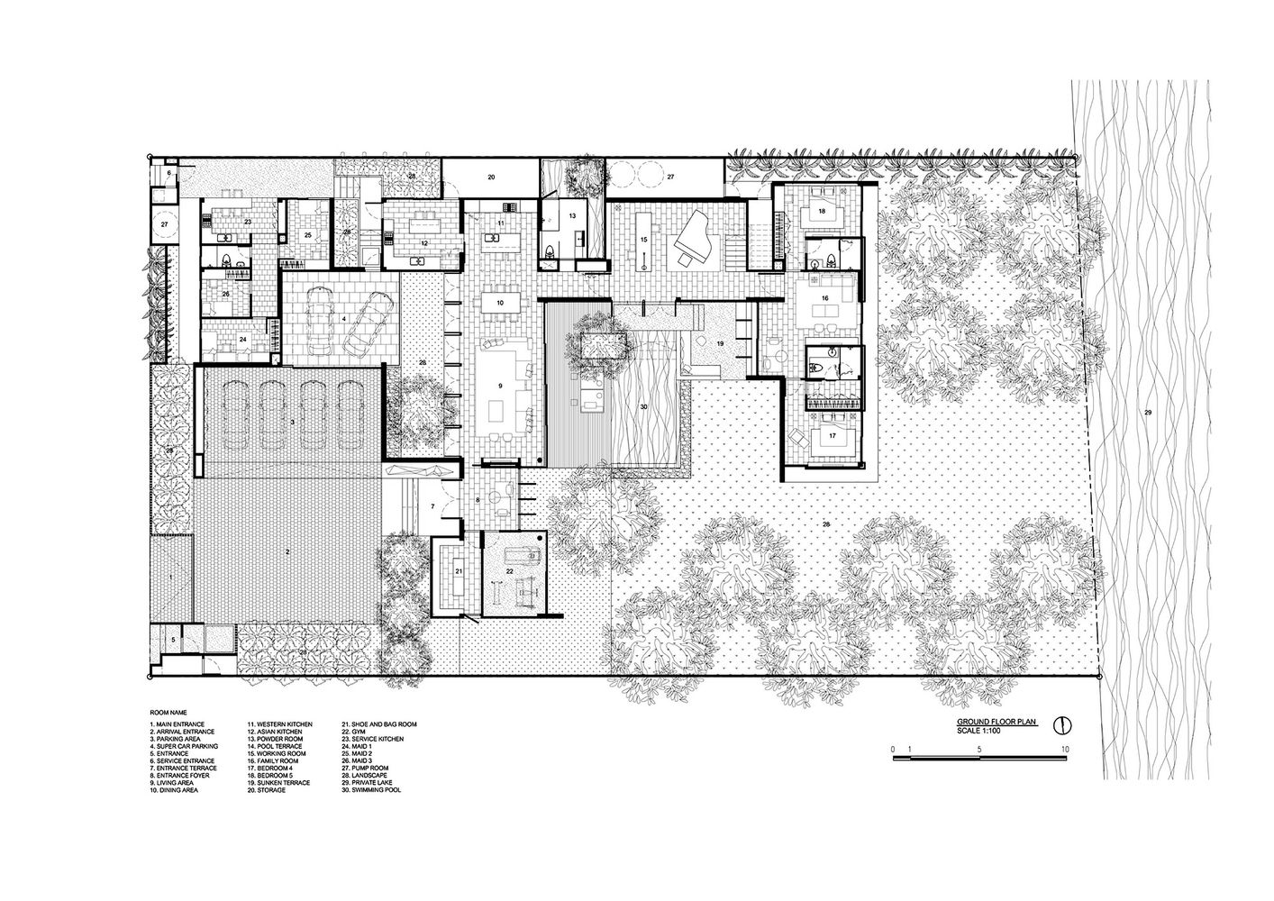Gallery Of Lsr113 Ayutt And Associates Design 19 Courtyard House Plans Contemporary House Floor Plans