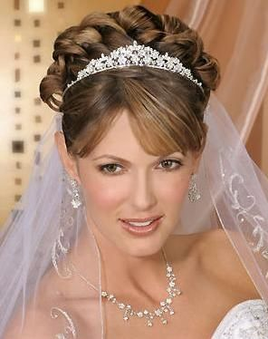 Peinados para novia recogidos con velo
