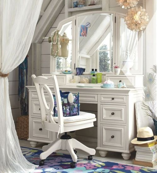 Webb Furniture Dresser With Mirror: Not Feeling The Chair, But I Need A Vanity Desk Like This