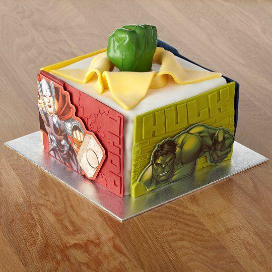 Avengers Xl Celebration Cake Olivers 4th birthday Pinterest