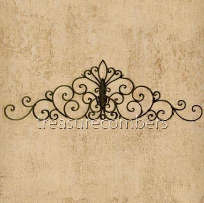 58 Tuscan WROUGHT Iron WALL GRILLE Headboard Topper Grill French ...