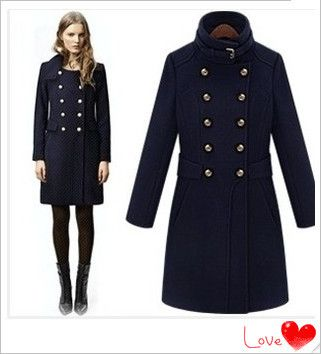 New 2014 Winter England Style Women Wool Coats Desigual Double ...