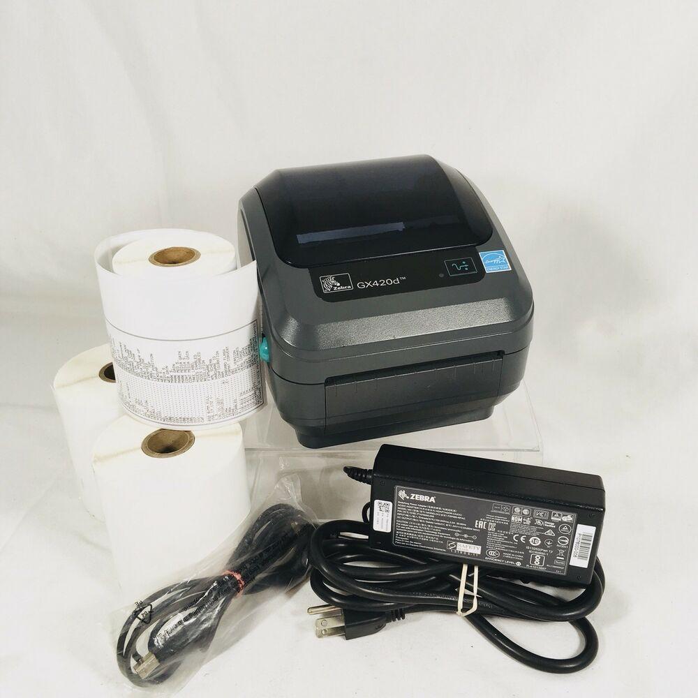 Zebra GX420d GX42-202510-000 Direct Thermal Label Printer