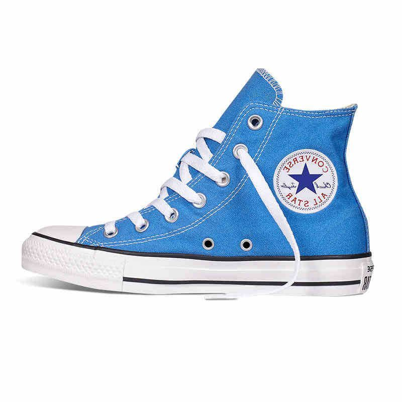 f162f4caa341 TRENDY TOP QUALITY Original Converse all star shoes Sky blue high unisex  sneakers canvas shoes for unisex High Skateboarding Shoes - TMACHE