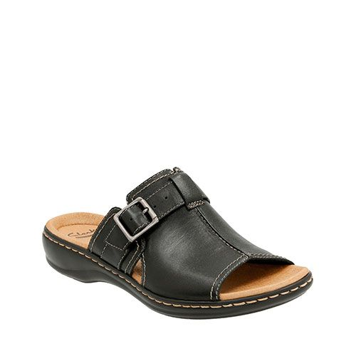 5362f36c3252 Ladies Clarks Solid Leather Slides Sandals. Available   Boscov s Online. Enjoy  slip-on