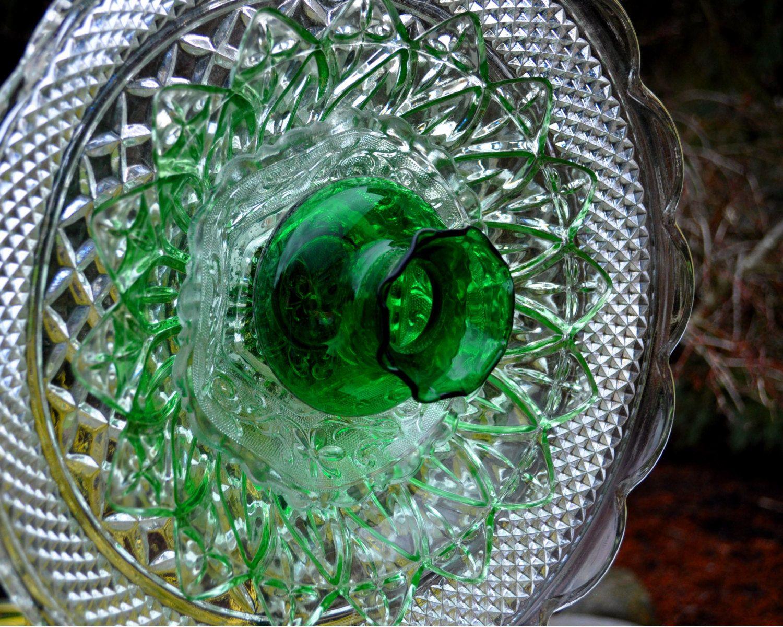 Repurposed Glass Flower Sun Catcher Garden Art, Garden Decor - Made ...