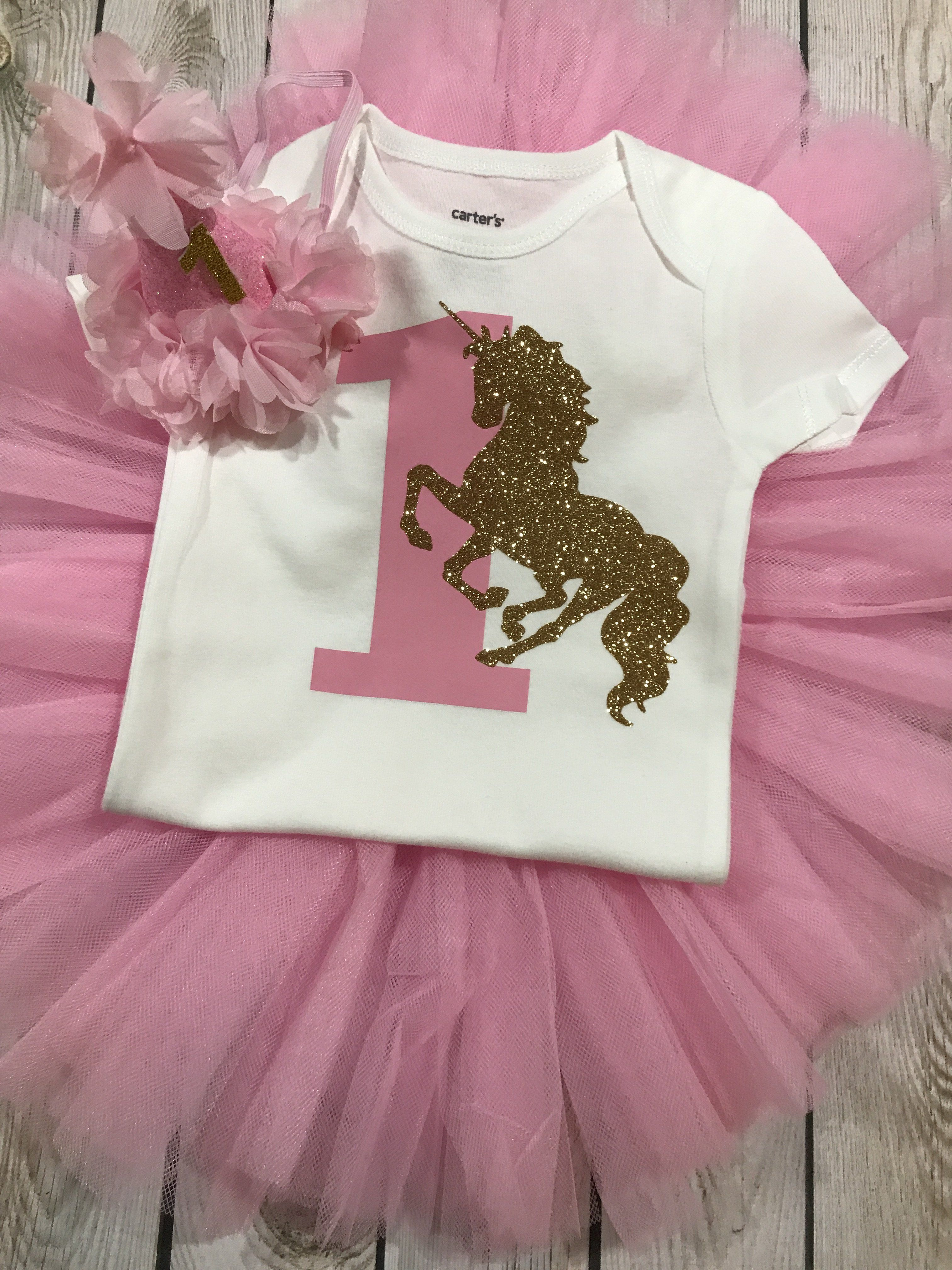 First Birthday Unicorn Outfit Girl Unicorn Shirt 1st Birthday