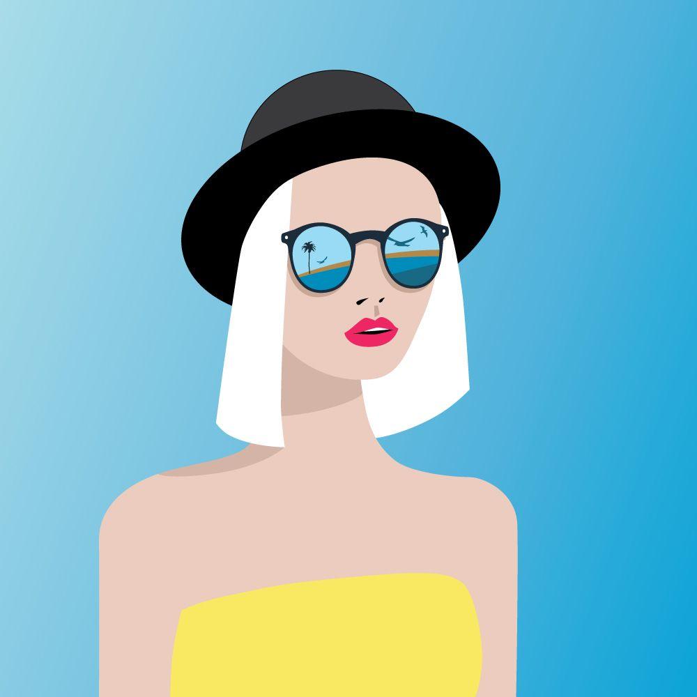 Con Kruglova Ilustracion Chica Gafas De Irina SolD•r•a•w•i•n•g•s f76gYby