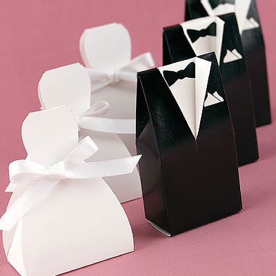 Wedding Dress Tuxedo Favor Boxes With Images Wedding Gift