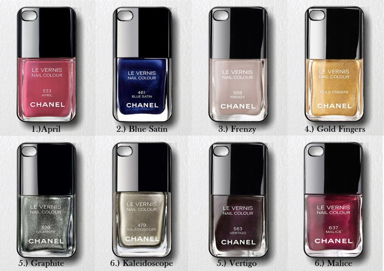 Chanel Nail Polish - Design on Hard Cover - iPhone 5 Case   truth ...