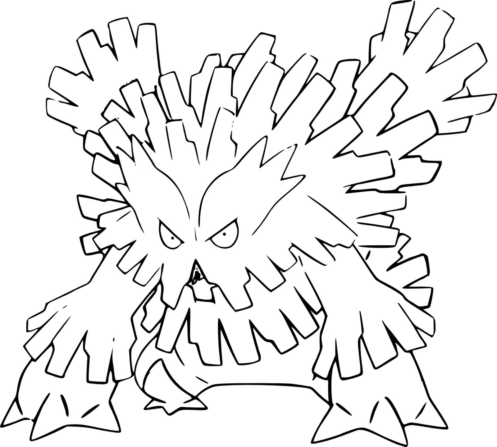 Pokemon Abomasnow Coloring Pages Collection Pokemon Coloring