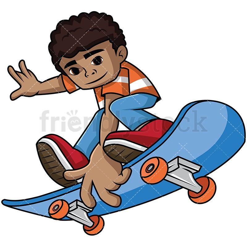 Black Kid Jumping On Skateboard With Images Skateboard Images