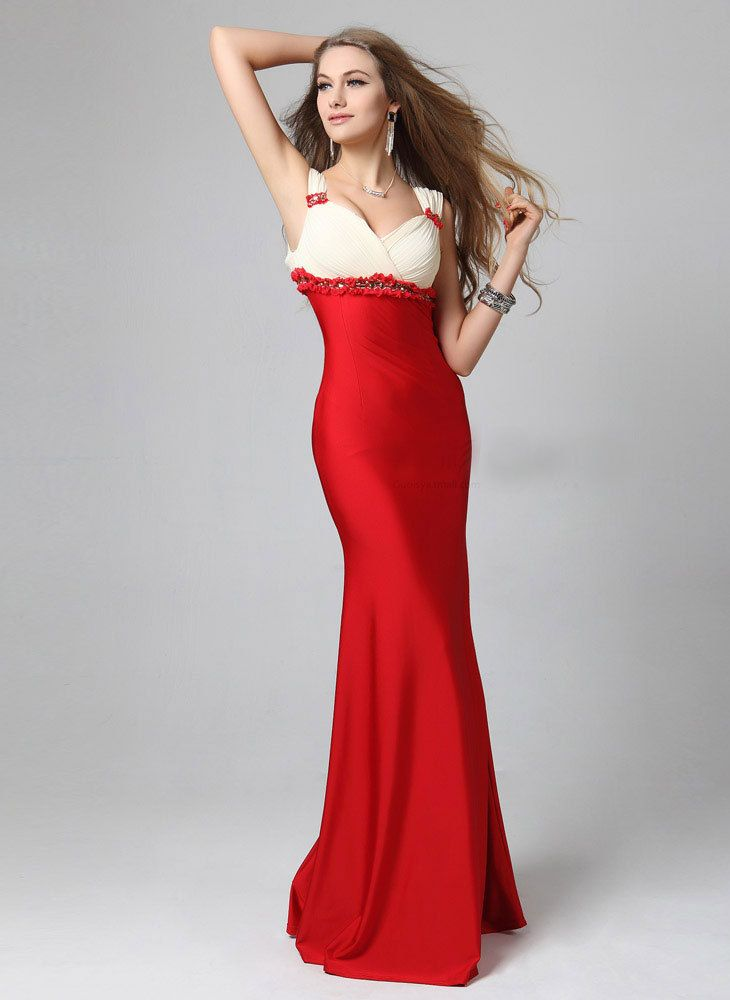 NEW! Get this fiery yet classy Beaded Empire Waist Long Evening ...