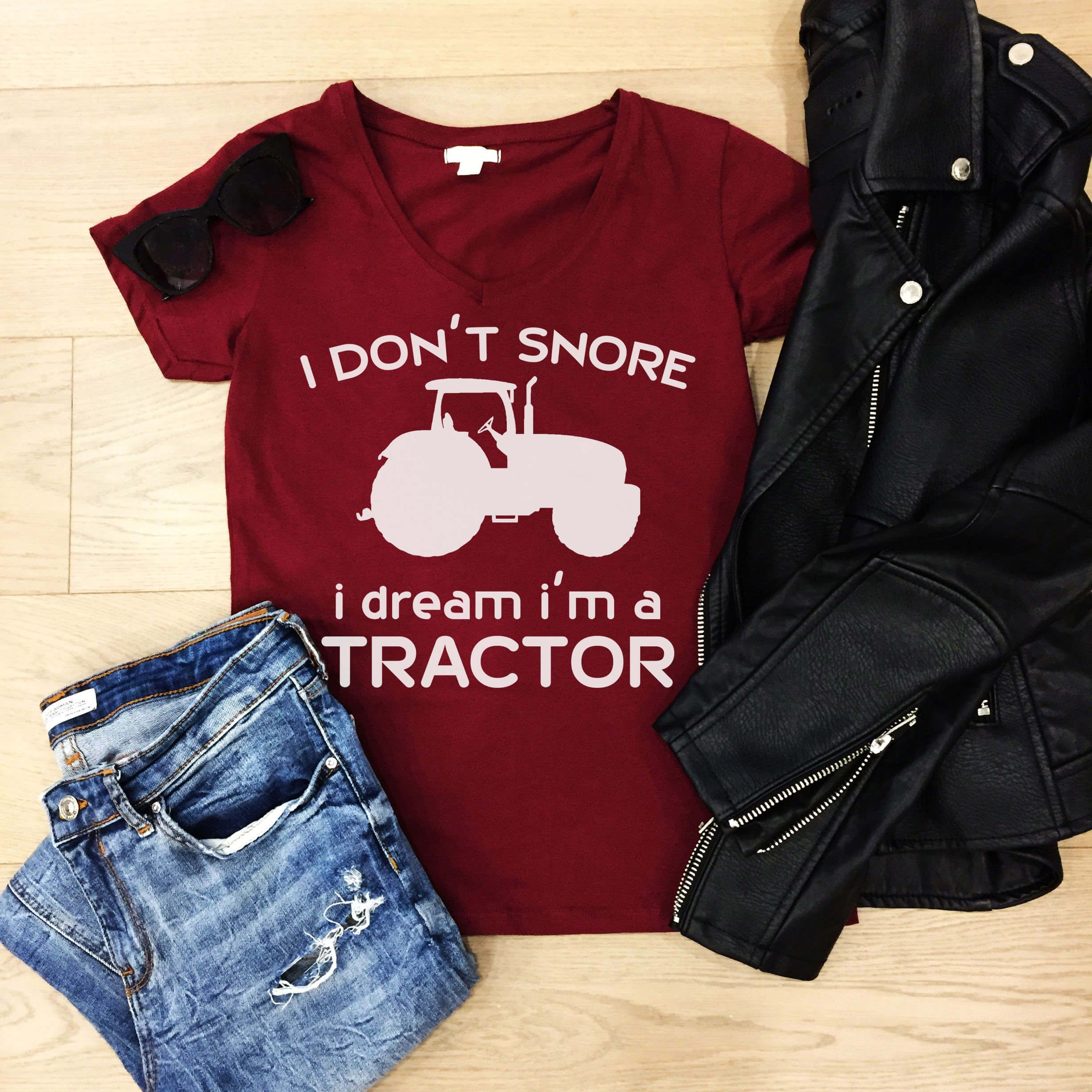 Free Snore Like A Tractor Svg File Svg Tractor Shirt Vinyl Shirts