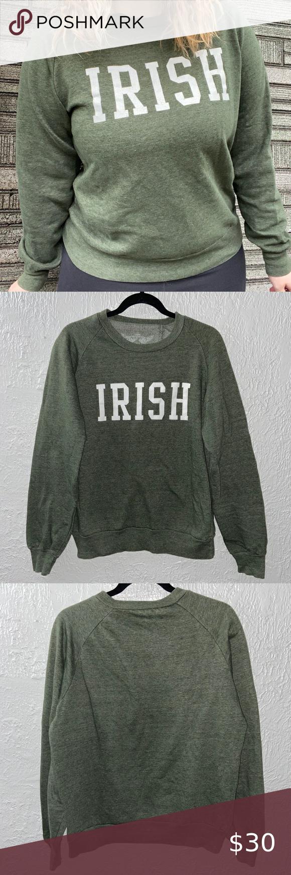 Women S Irish Sweatshirt Top In 2020 Sweatshirt Tops Sweatshirts Irish Sweatshirts