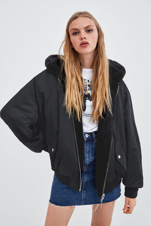 Izobrazhenie 2 Ot Dvulicevo Pilotsko Yake Ot Zara Bomber Jacket Reversible Faux Fur Coat Outerwear Jackets [ 2880 x 1920 Pixel ]