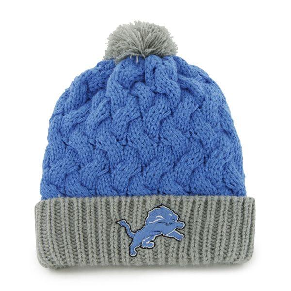 95cf2f44ae915 Detroit Lions Matterhorn Knit Blue Raz 47 Brand Womens Hat