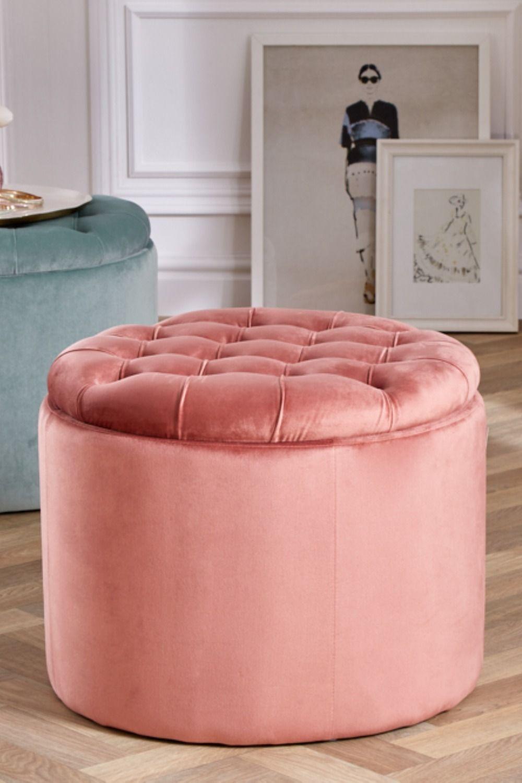 Eleganter Sitzhocker Modern Barock 50cm Altrosa Samt Aufbewahrungkorb Riess Ambiente De Sitzhocker Hocker Und Moderner Barock