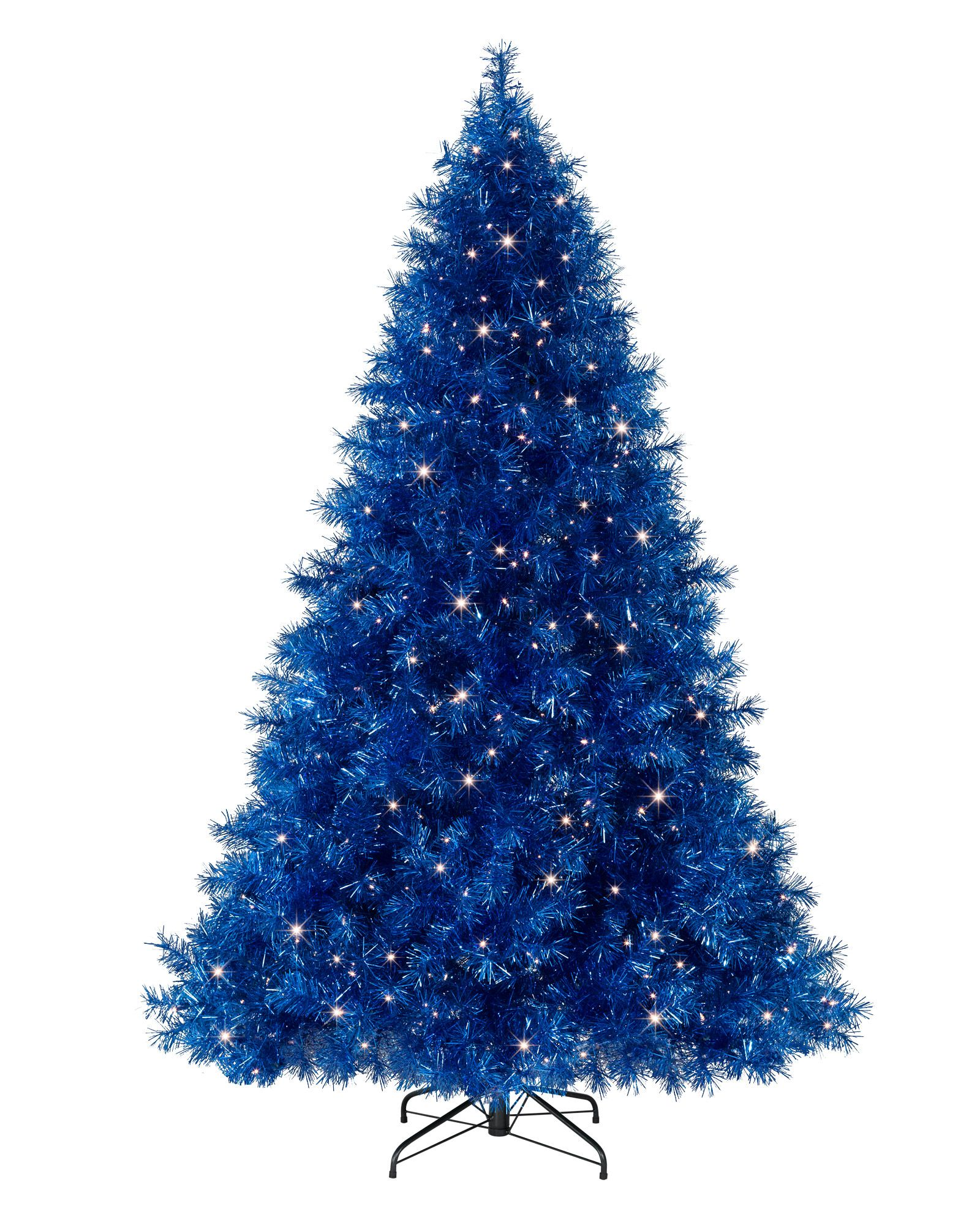Flame Retardant Decorations Sassy Sapphire Blue Tinsel Christmas Tree  Tinsel Christmas Tree