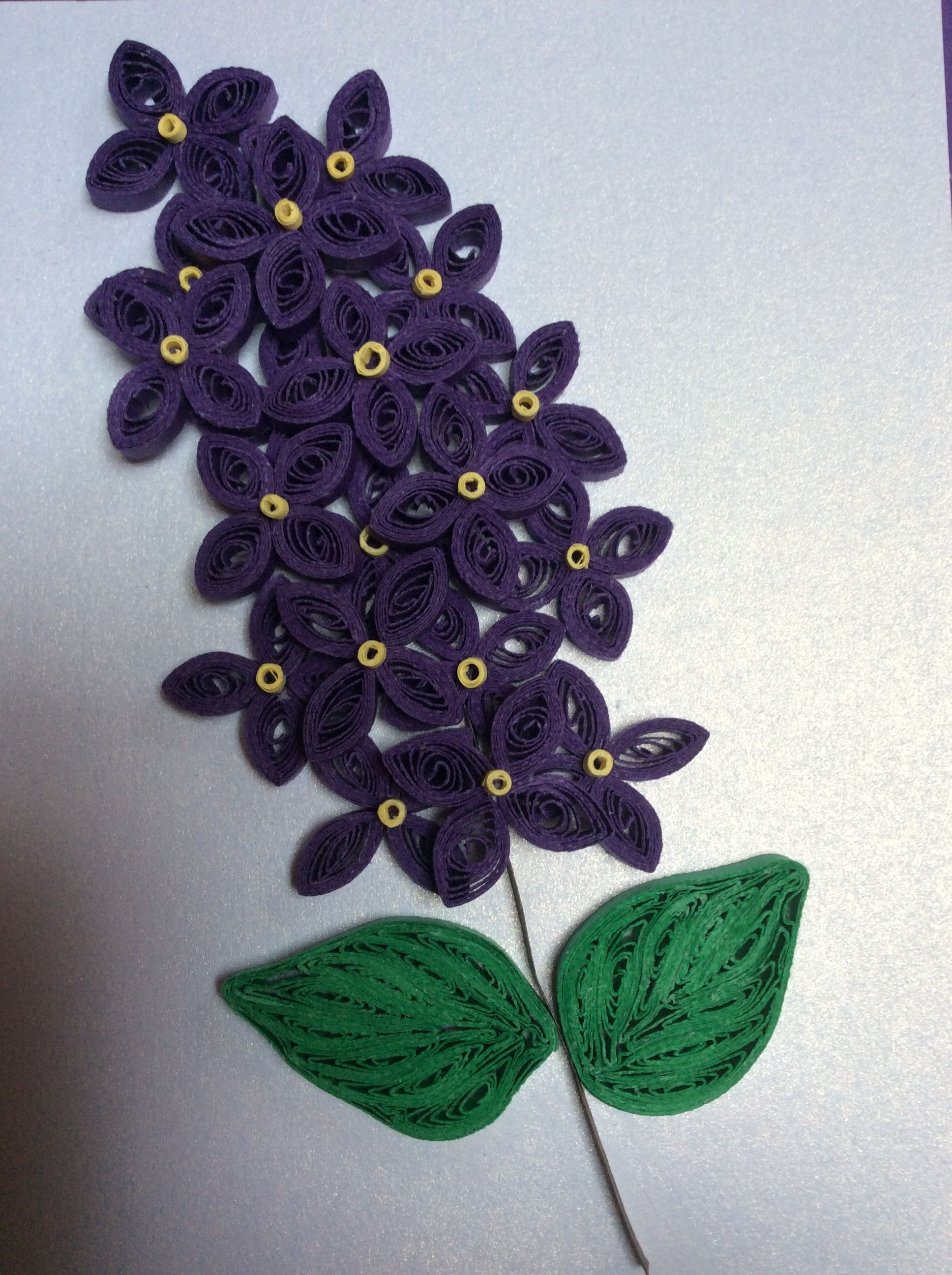 Quilled Lilac Paper Flower By Kris