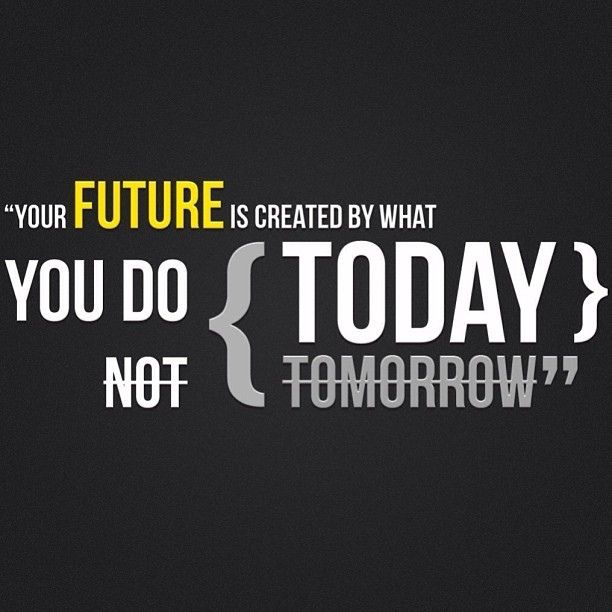 Your Future Is Created By What You Do Today Not Tomorrow Start Today Instead Of Saying Oh I Ll Do It Another Time Inspirational Quotes Wallpapers Best Motivational Quotes Popular Quotes Hd motivational wallpapers for laptop