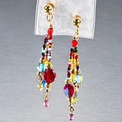 Venetian  Glass Bead Earrings in Fall 2012 from Uno Alla Volta on shop.CatalogSpree.com, my personal digital mall.
