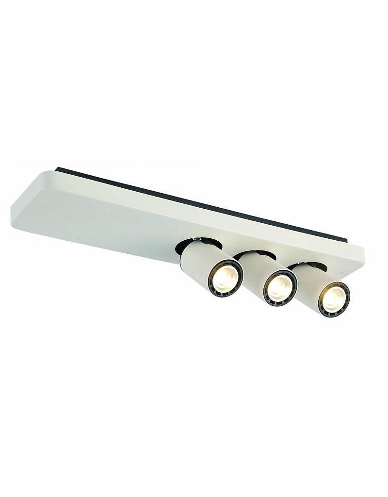 Plafondlamp Led Design Zwart Wit Richtbaar Gu10 3x4 5w 500mm Breed Zwart Wit Plafondlamp Zwart