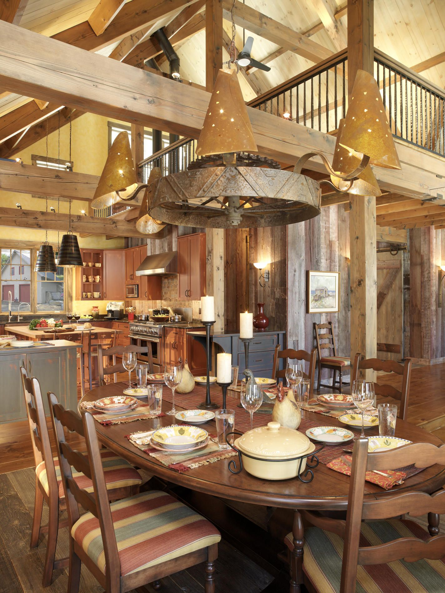 rustic dining room light fixture. Wooden Beams And An Industrial Lighting Fixture Provide Rustic Charisma To This Dining Space. * Room Light M