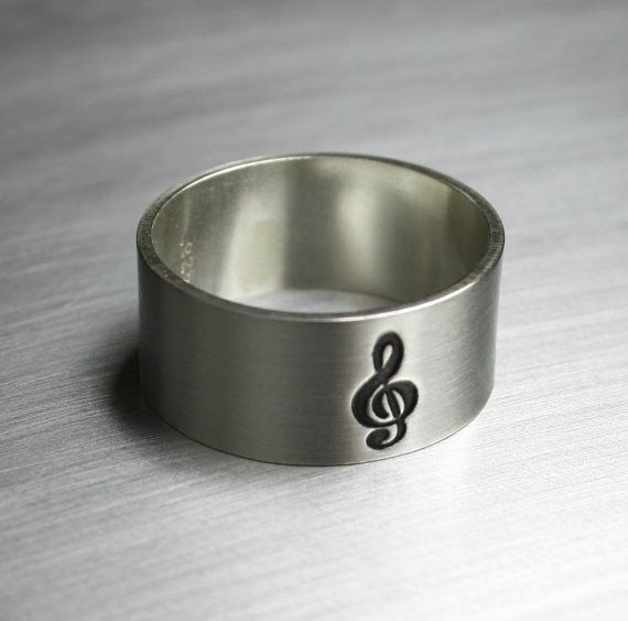 TODAY Sterling Silver Music Note Ring Treble Clef | Music rings ...