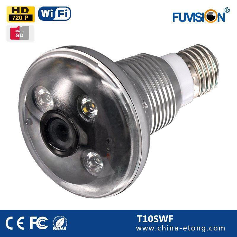 Popular Night Vision Hidden Camera Bulb Light Wifi Wireless Ip Cctv Spy Cameras Spy Camera Security Lights Camera Keychain