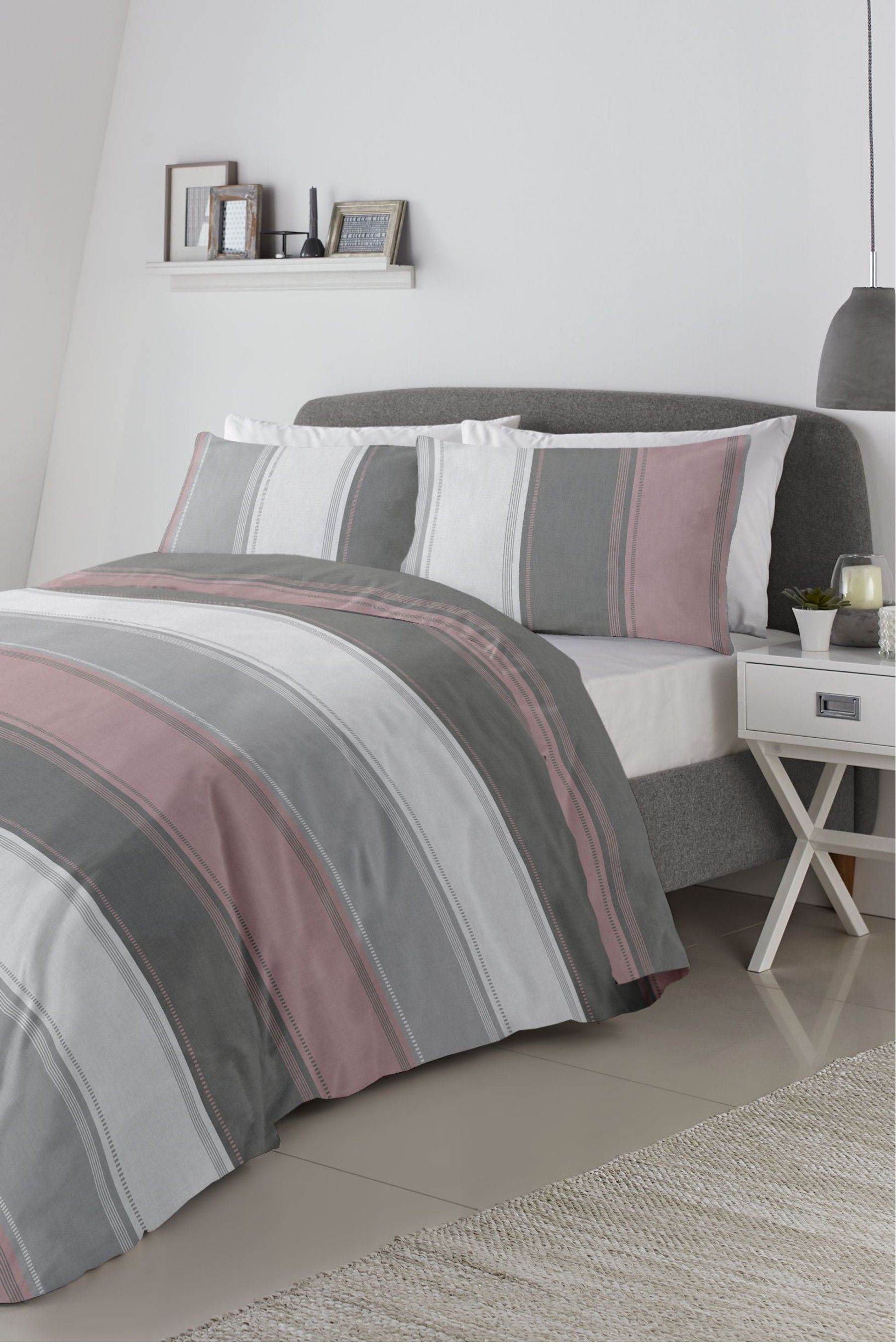 c550d9326da4 Fusion Betley Duvet Cover and Pillowcase Set - Grey in 2019 ...