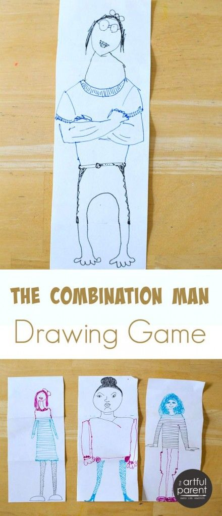 The Combination Man Or Exquisite Corpse Drawing Game