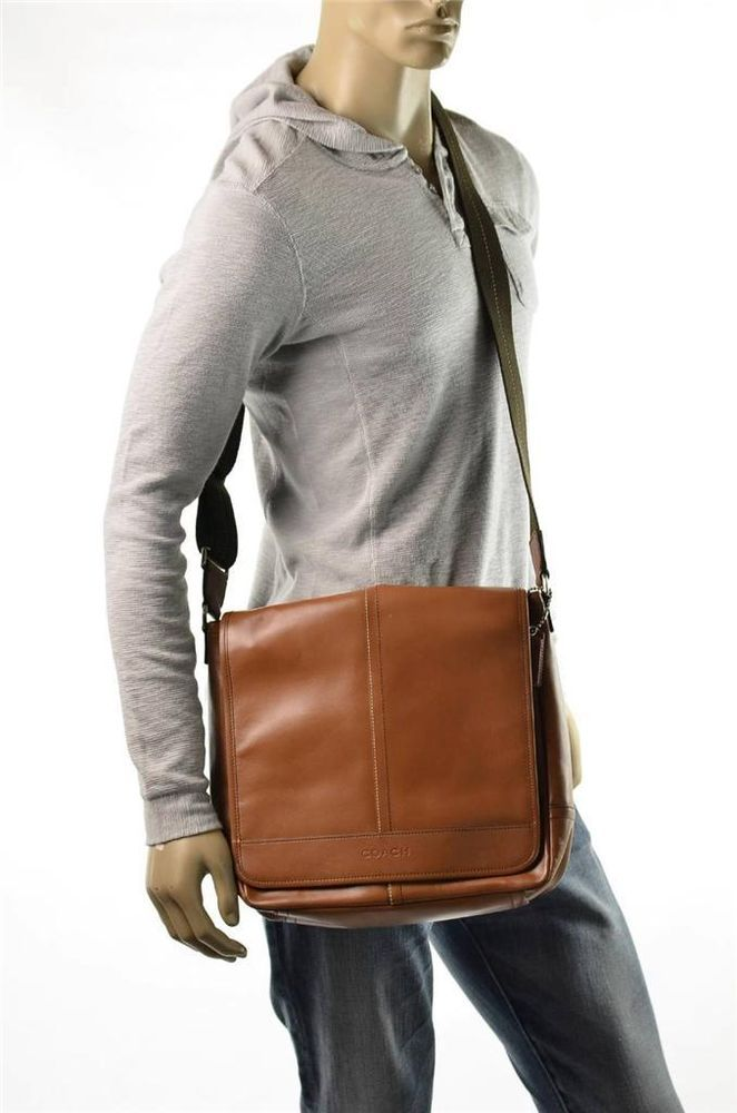 6b90d5bcdd34 Coach Mens Leather Lexington Messenger Bag Brown Shoulder Bag Travel  Satchel Bag #Coach #MessengerShoulderBag