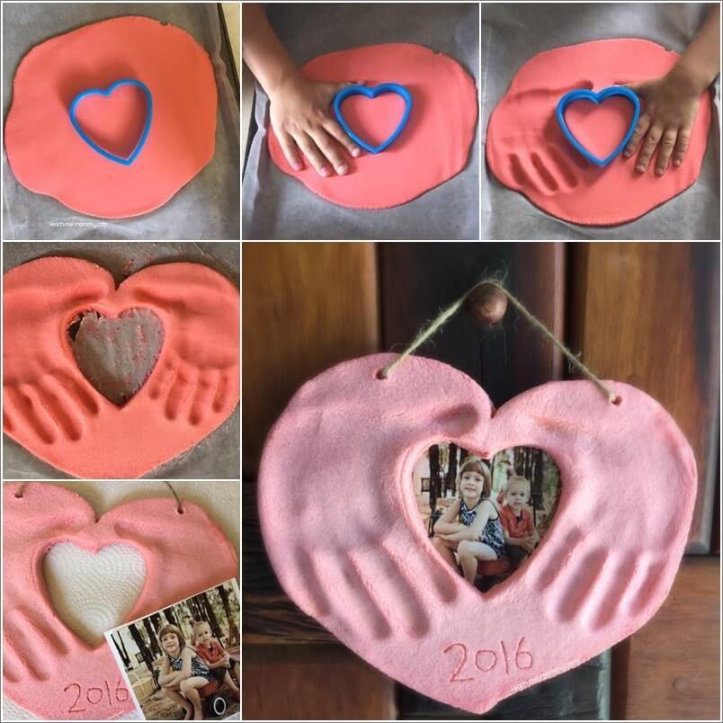 Foto Herz mit Handabdrücken | Basteln | Pinterest | Salzteig ...