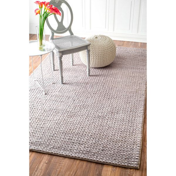 Nuloom Handmade Casual Braided Wool Grey Rug 8 X 10 17767370 Ping Great Deals On 7x9 10x14 Rugs