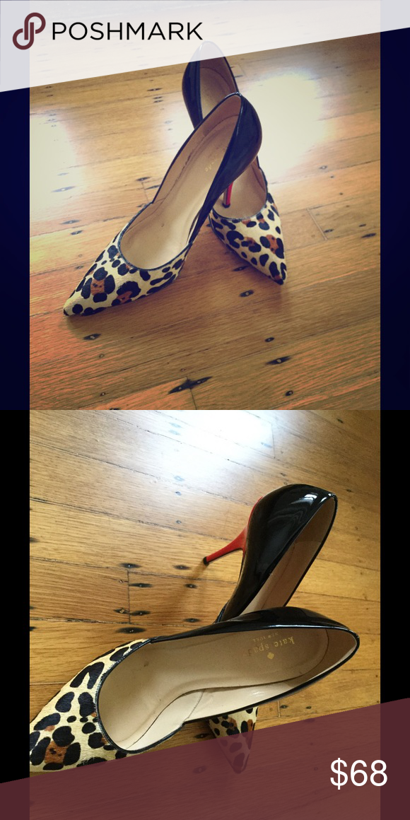 Kate Spade Leopard and Patent Heels Kate Spade Leopard and Patent Heels. Black, red and Leopard print. Worn twice - like New. kate spade Shoes Heels