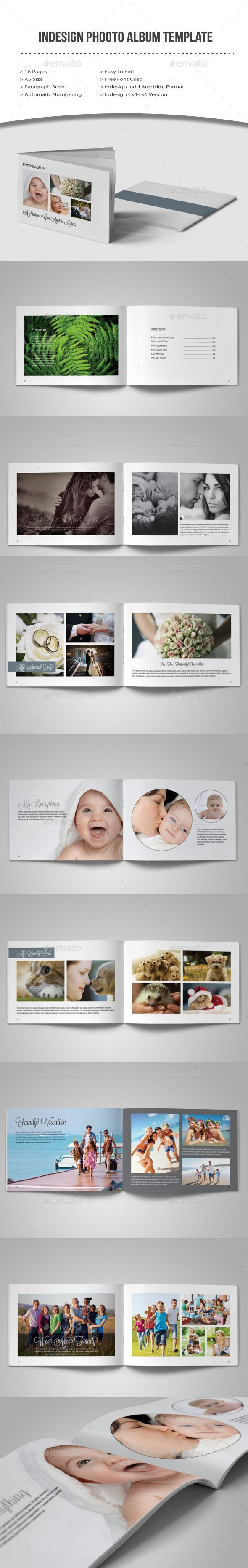 Indesign Photo Album Template | Template, Album and Photo album printing
