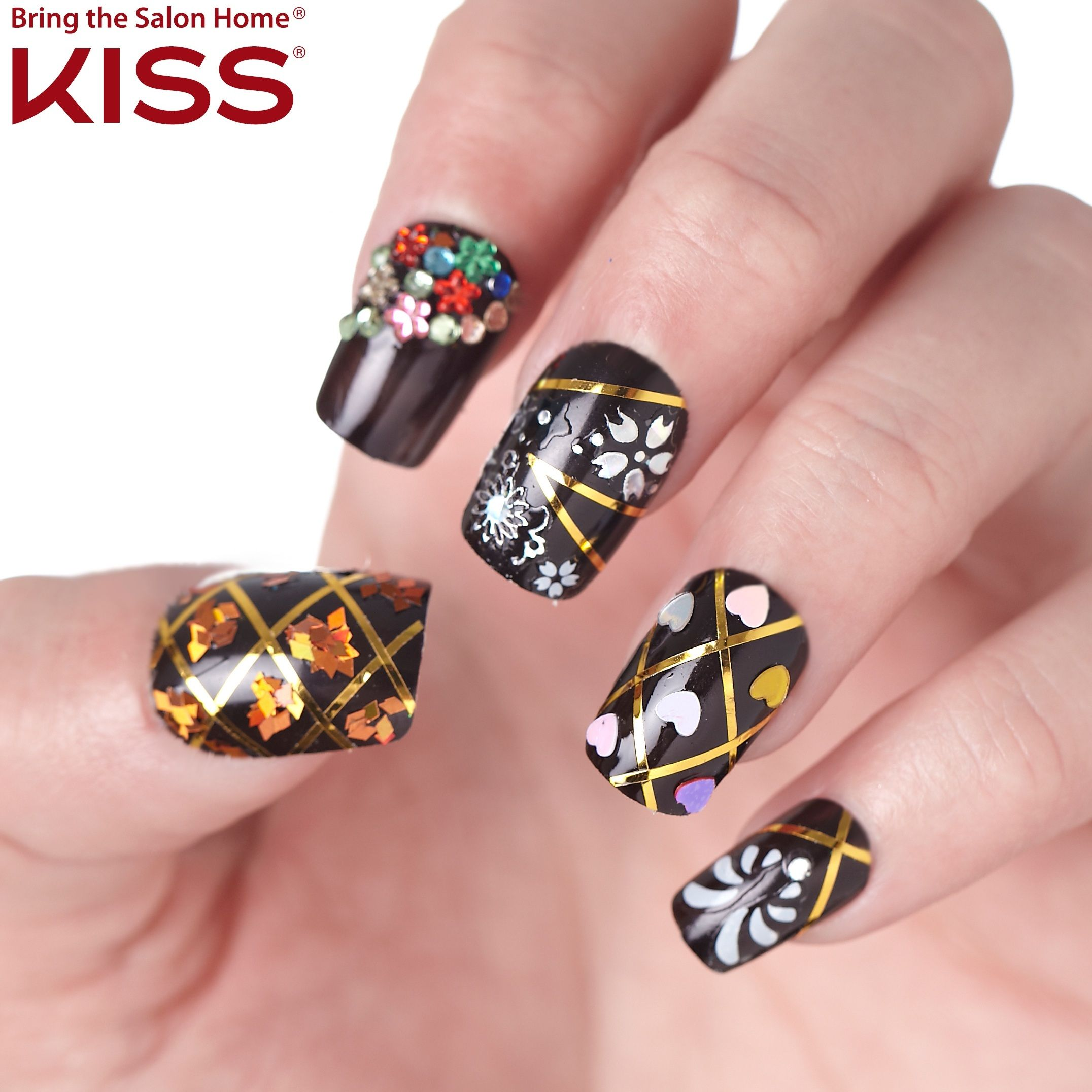 How Do You Dress Up Your Nails Glitter Rhinestones Charms Foil