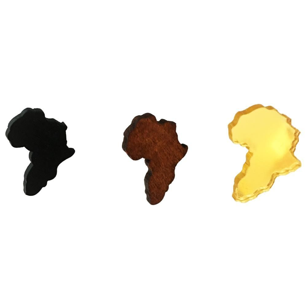 Mini Map of Africa Stud Earrings