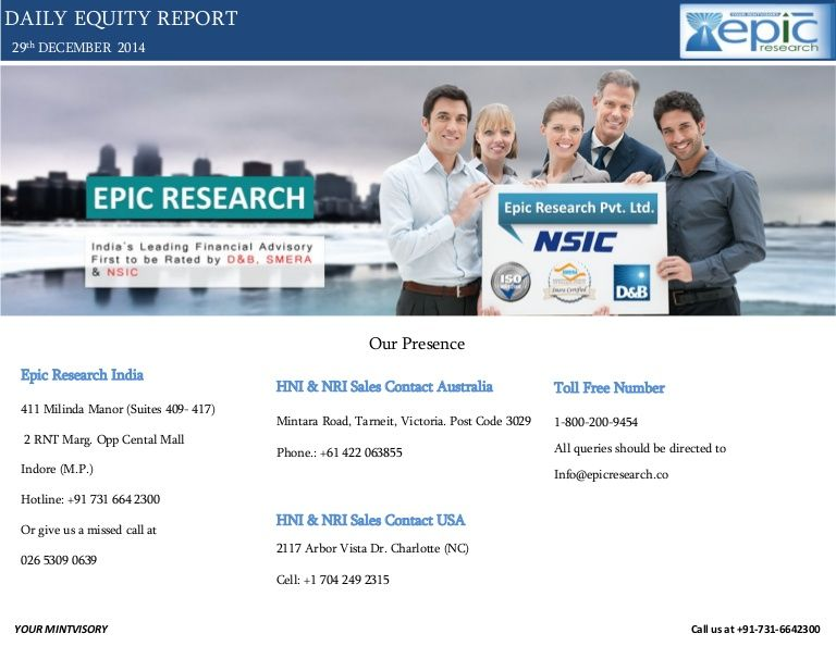 Epic Research Private Limited is the Service Excellence Award Winner Financial Advisory Firm, known for the best consultation services regarding Capital Stock Market of India and other global markets.